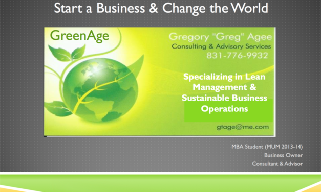 Start a Business and Change the World – By Greg Agee
